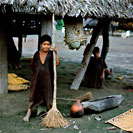 Ashaninka (Campa) Indian Boy with Broom