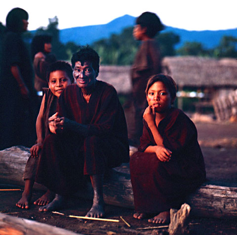 Machiguenga Indians Smiling